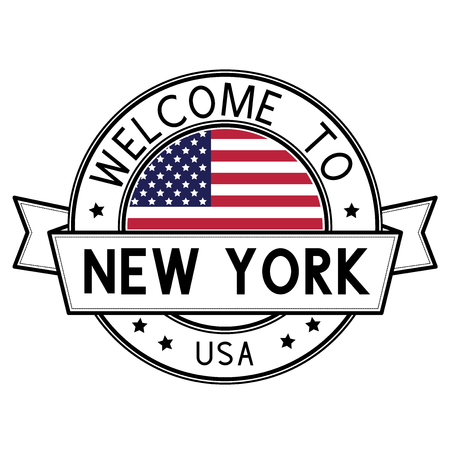 Welcome to New York, USA travel stamp