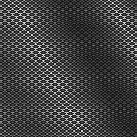 Metal perforated 3d texture vector illustration.