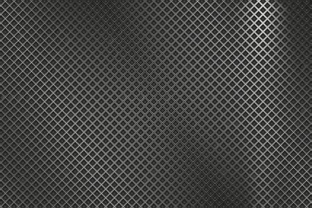 Perforated metal texture. Diamond shaped holes illustration.