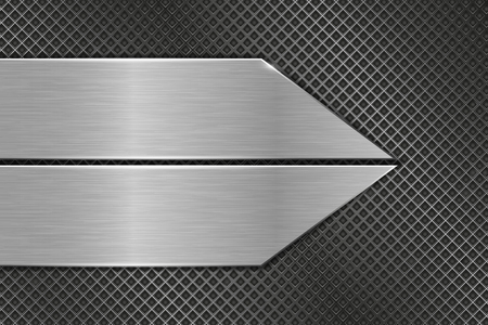 Metal perforated texture with iron elements vector illustration