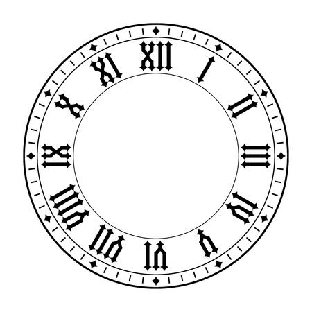 Uhr mit römischen Ziffern