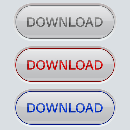 Download button. Gray oval web icons