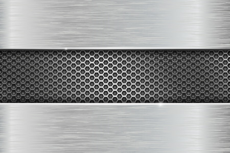 Iron brushed metal texture with metal perforation