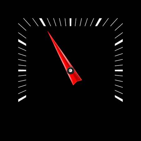 Empty scale. Vector illustration on black background