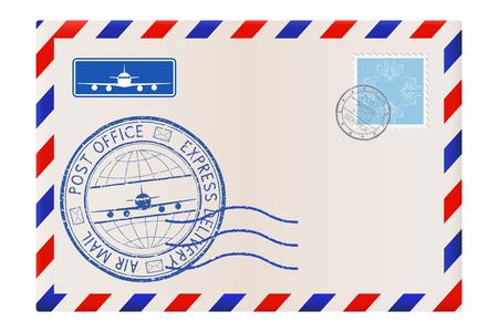 Enveloppe. Courrier de correspondance international