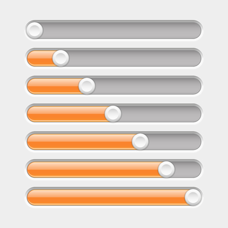 Orange and gray slider bars illustration Иллюстрация