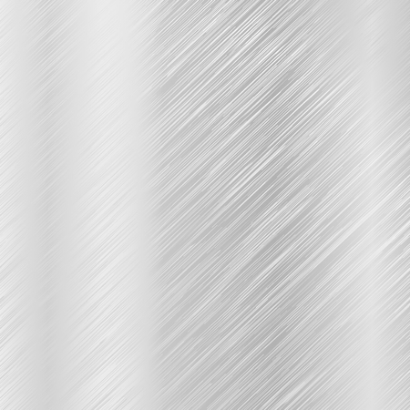 Metal scratched texture. Steel brushed background. Vector 3d illustration