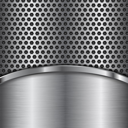 Metal perforated texture  pattern design