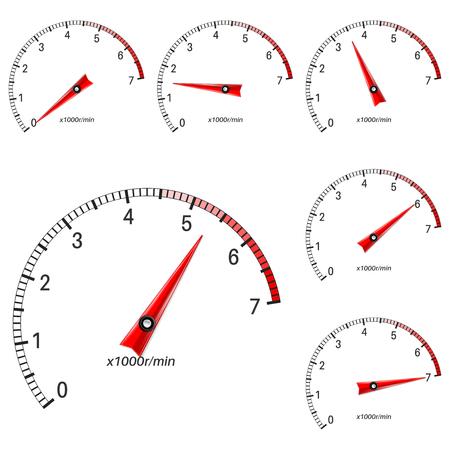 Ilustración de escalas de manómetro Ilustración de vector