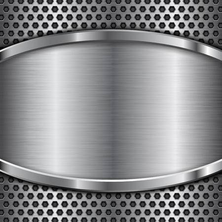 fondo perforado metal con marco de acero inoxidable
