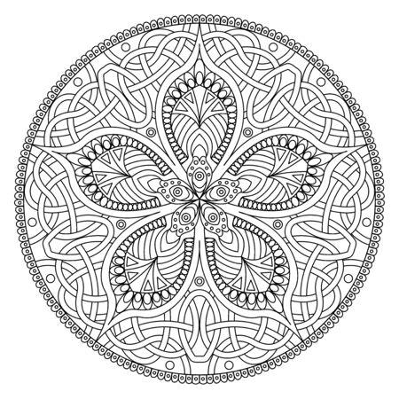 Mandala. Oriental decorative flower pattern
