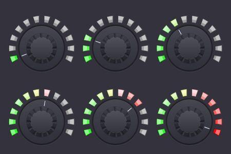 Navigation round knob buttons. Volume control