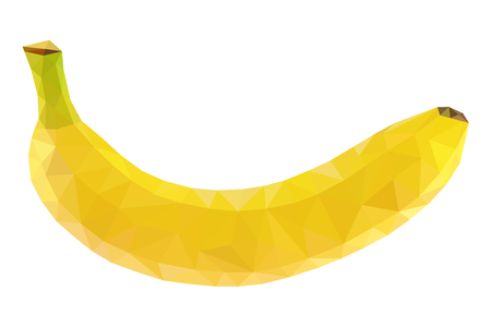 Banana Polygonal Vector illustration.