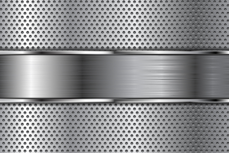Metal with perforation and brushed plate