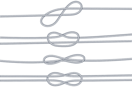 Rope knots vector illustration set Illustration