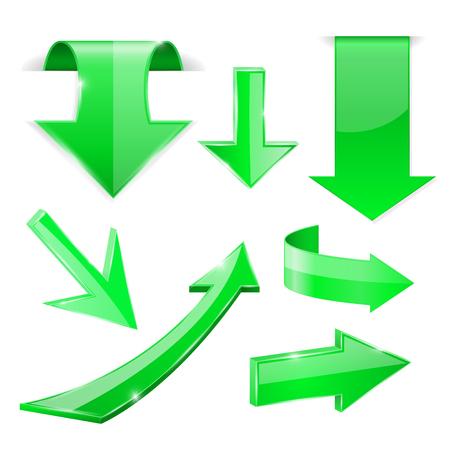 Green Shiny arrows icons