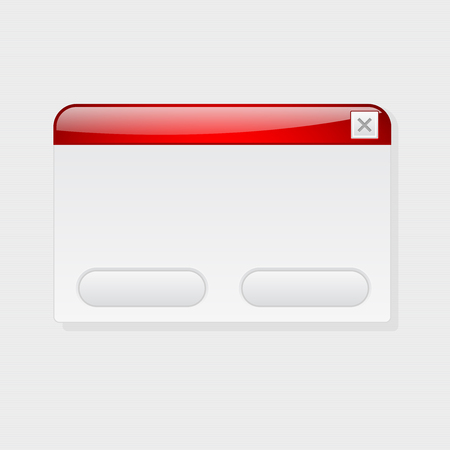 Pop up application blank window. Interface element