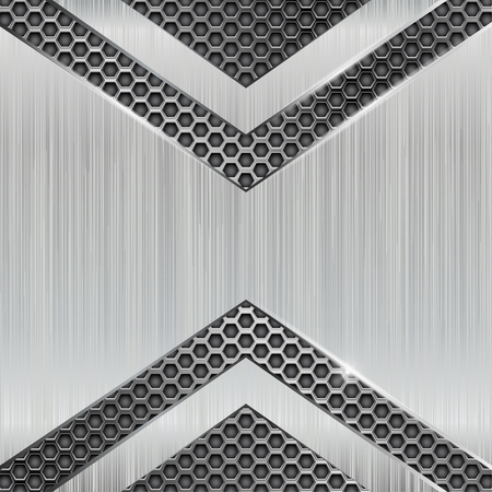 Metal 3d background with perforation