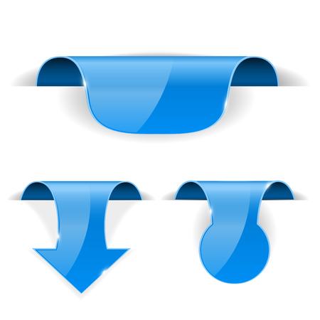 Blue sticker labels Illustration