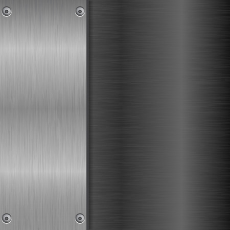 Metal brushed background with horizontal and vertical scratches Illustration