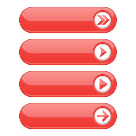 Red interface buttons with arrows