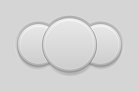 Round combo button. Empty interface 3d icon