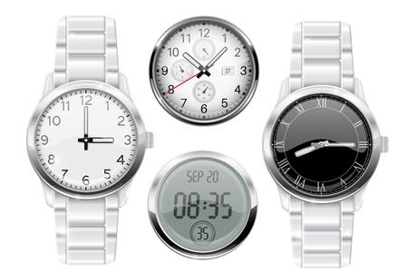 Reloj de pulsera para hombre. Conjunto 3d
