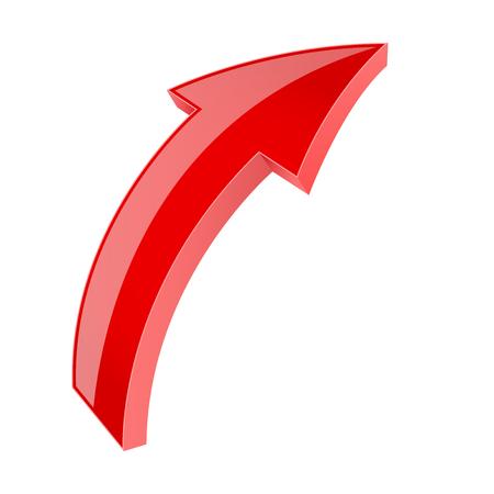 Red 3d shiny arrow. Next sign