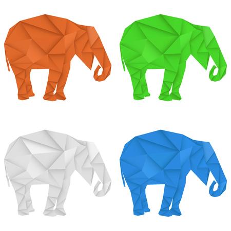Elephant. Polygonal vector illustration