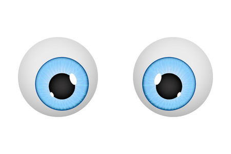 Augen. Cartoon Augäpfel Vektorgrafik