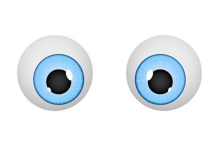 Eyes. Cartoon eyeballs
