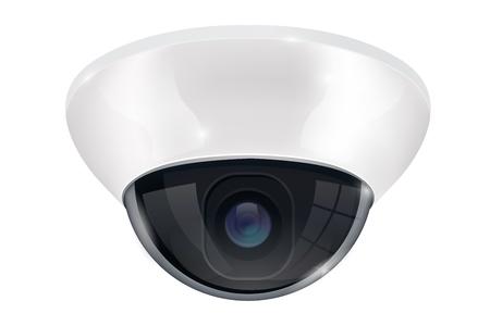 CCTV surveillance camera. Ceiling mount system. Vector 3d illustration Vector Illustration