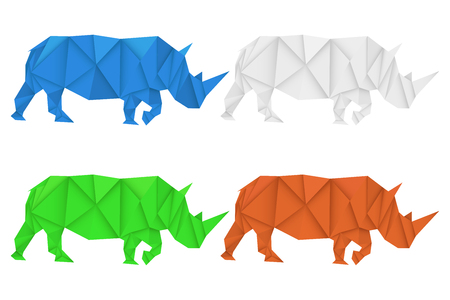 Rhinoceros. Polygonal vector illustration 向量圖像