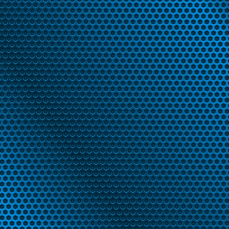 Blue metal perforated background. Vector 3d illustration