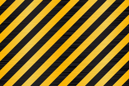 Under construction background. Black yellow diagonal stripes. Vector 3d illustration Illustration