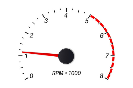 Tachometer scale. Vector illustration isolated on white background