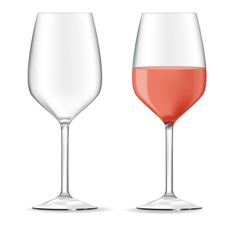 Glass of wine. Vector 3d illustration isolated on white background