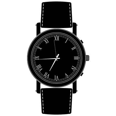 Wrist watch. Vector 3d illustration isolated on white background