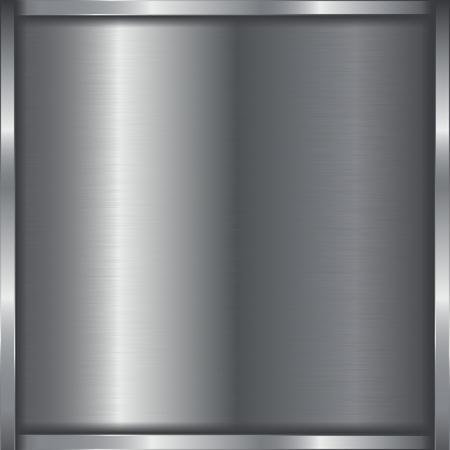Metal 3d background with frame. Vector 3d illustration