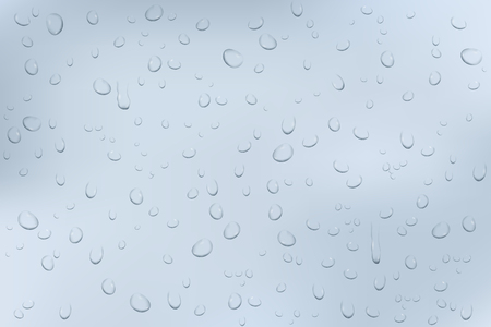 Water drops background. Window glass. Vector 3d illustration  イラスト・ベクター素材