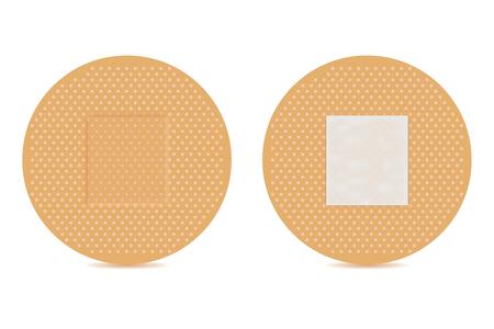 Adhesive bandage. Brown set. Vector 3d illustration Standard-Bild - 109475397
