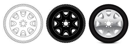 Rad mit Reifen