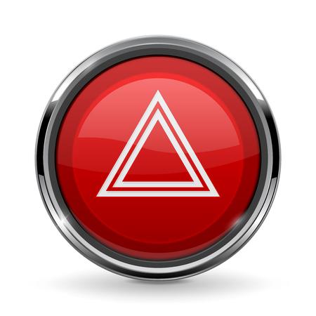 Warning light button. Car dashboard element