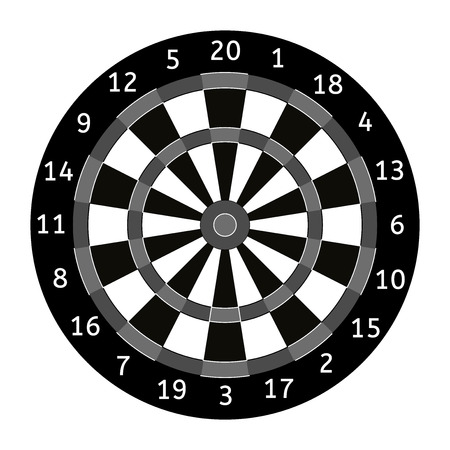 Darts board. Vector illustration isolated on white background