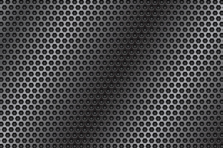 Metal perforated 3d texture. Steel plate. Vector illustration