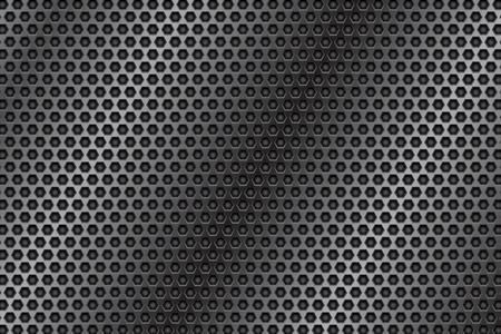 Textura 3d perforada de metal. Placa de acero. Ilustración vectorial