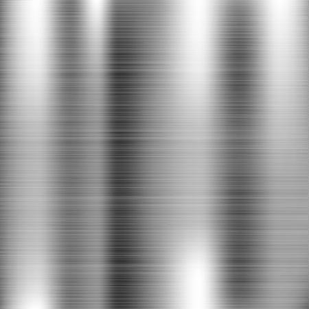 Texture en métal brossé. Surface 3d brillante rayée. Illustration vectorielle Vecteurs