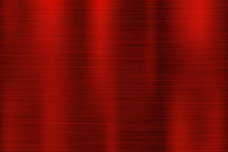 Texture en métal rouge. Surface 3d brillante rayée. Illustration vectorielle Vecteurs