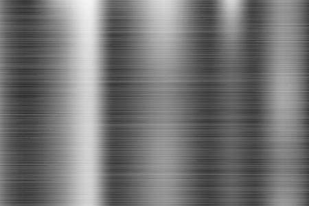 Textura de metal. Superficie 3d brillante rayada. Ilustración vectorial