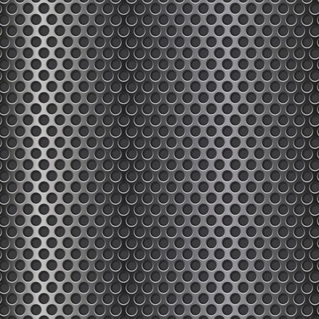 Metal perforated 3d texture. Vector illustration 向量圖像